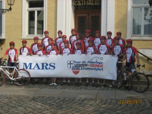 Das Verdener Rad-Team der Tor de Jumelage