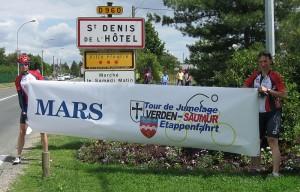 Pause in St. Dennis en l'Hotel, einem Mars Standort in Frankreich